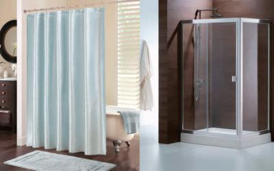 ¿Cortina de ducha o mamparas?